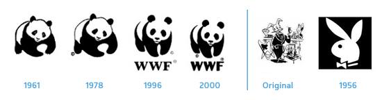 Logos inchangée WWF et Playboy