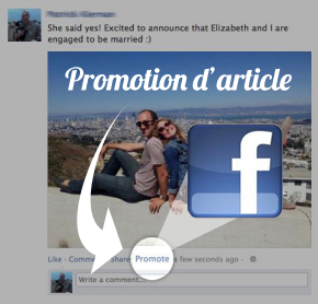 Fonctionalite Facebook : Promotion de post (articles, photos, video) Facebook pour les comptes des particuliers